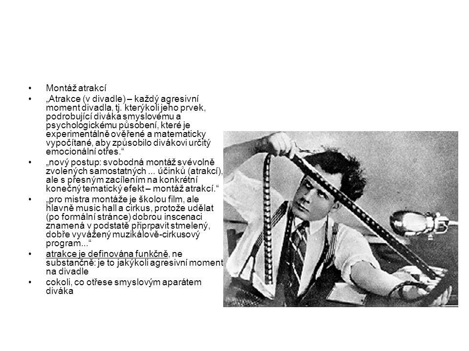 """Bezsyžetový film (Ejzenštejn – pojem syžet používán ve smyslu """"zápletky ) Synestezie analogie filmu a jazyka"""