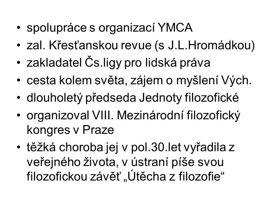 spolupráce s organizací YMCA zal.