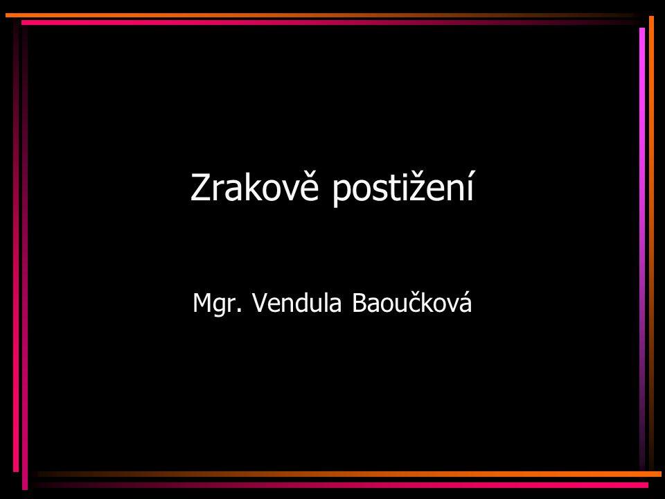 Zrakově postižení Mgr. Vendula Baoučková