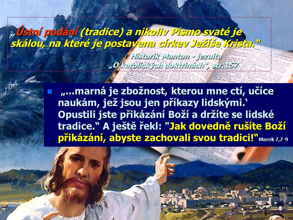 """""""Naše křesťanská formulace Desatera Desatera vynechala druhé přikázání přikázání starozákonní (Neučiníš si obrazu Boha) aposlední (o žádostivosti) žádostivosti) rozvedla na dvě."""