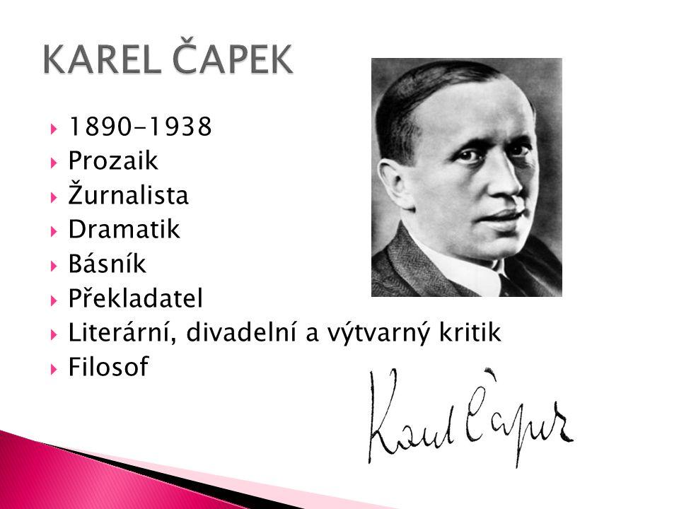  1890-1938  Prozaik  Žurnalista  Dramatik  Básník  Překladatel  Literární, divadelní a výtvarný kritik  Filosof