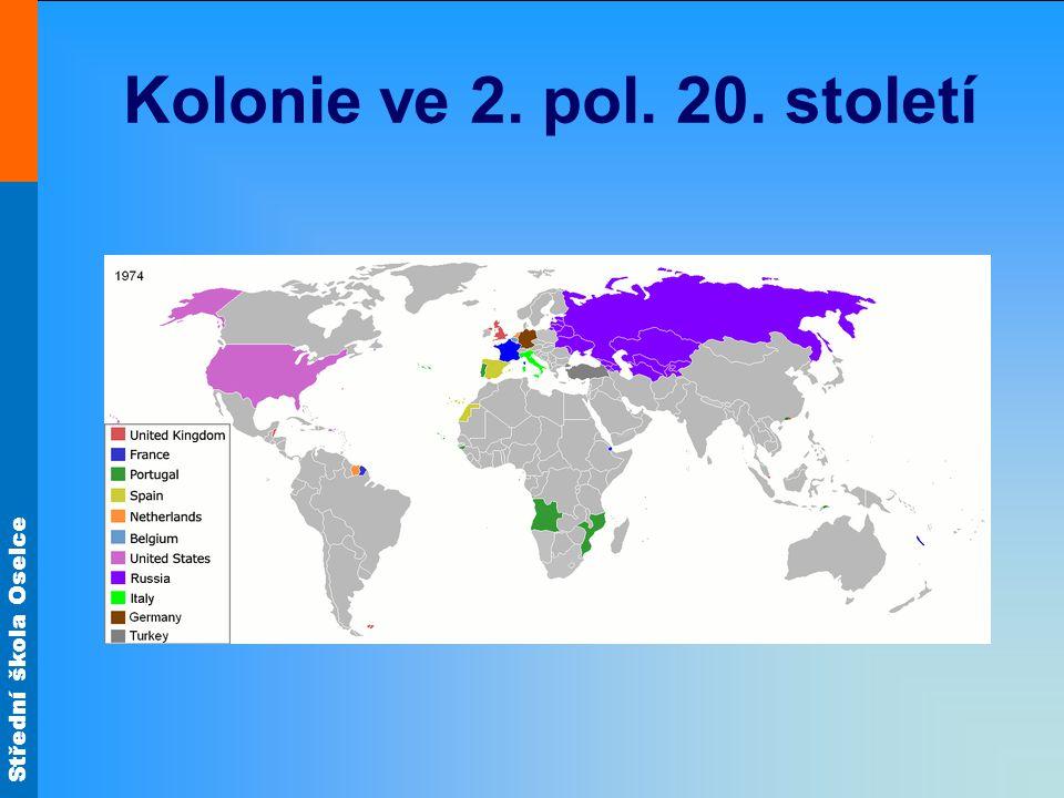 Střední škola Oselce Kolonie ve 2. pol. 20. století