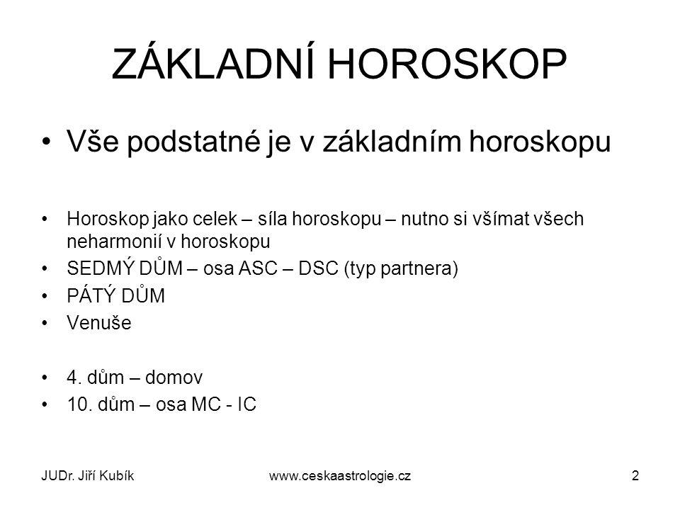 JUDr. Jiří Kubíkwww.ceskaastrologie.cz33