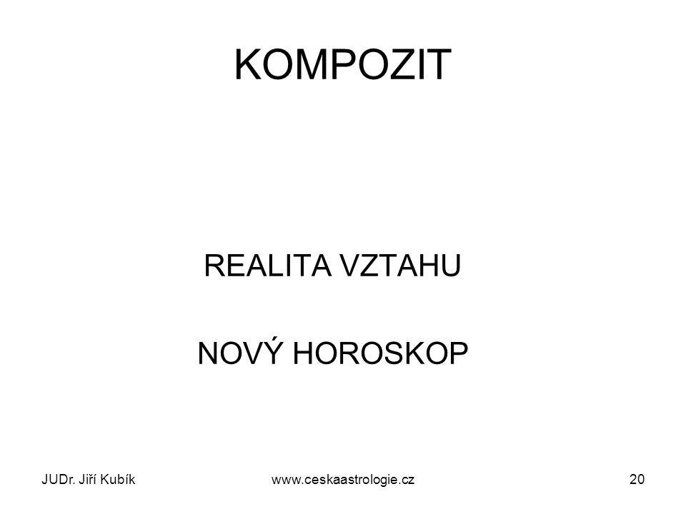 JUDr. Jiří Kubíkwww.ceskaastrologie.cz20 KOMPOZIT REALITA VZTAHU NOVÝ HOROSKOP