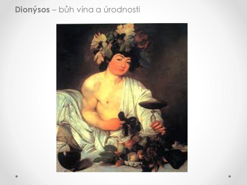 Dionýsos – bůh vína a úrodnosti