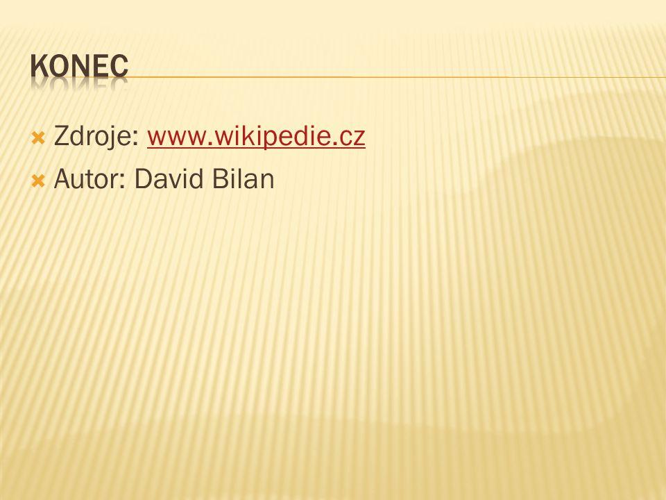  Zdroje: www.wikipedie.czwww.wikipedie.cz  Autor: David Bilan