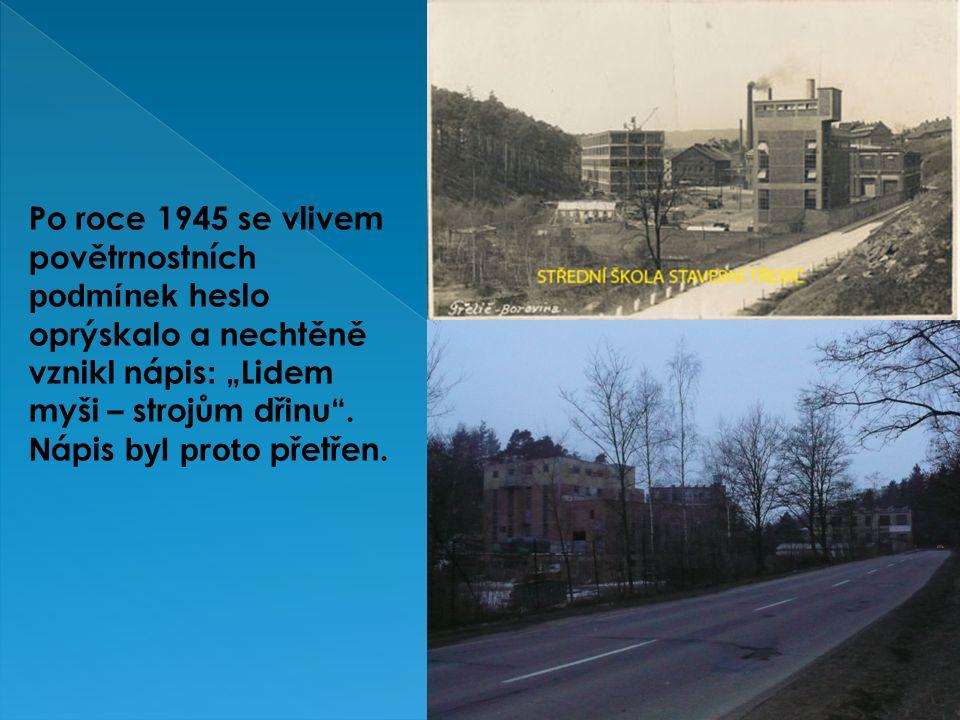 Roku 1965 byla kotelna zbourána a východním směrem postaven a nová s vysokým komínem.