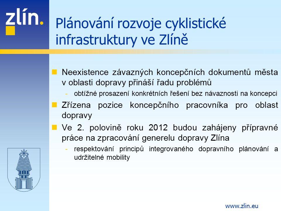 www.zlin.eu Neexistence závazných koncepčních dokumentů města v oblasti dopravy přináší řadu problémů -obtížné prosazení konkrétních řešení bez návazn