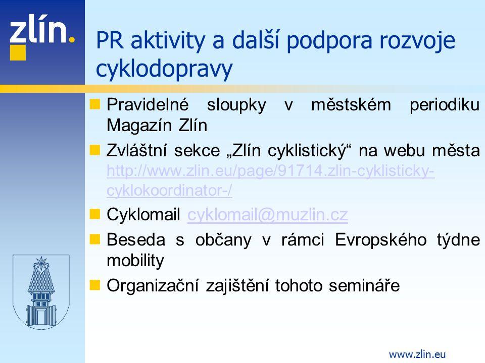 """www.zlin.eu Pravidelné sloupky v městském periodiku Magazín Zlín Zvláštní sekce """"Zlín cyklistický"""" na webu města http://www.zlin.eu/page/91714.zlin-cy"""