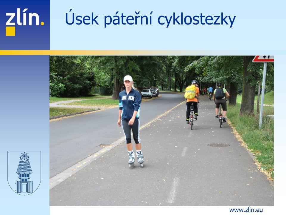 www.zlin.eu Úsek páteřní cyklostezky