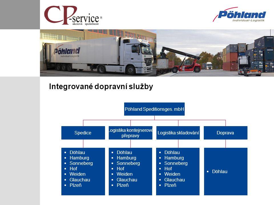 Integrované dopravní služby Pöhland Speditionsges. mbH Logistika skladováníDoprava Logistika kontejnerové přepravy  Döhlau Spedice  Döhlau  Hamburg