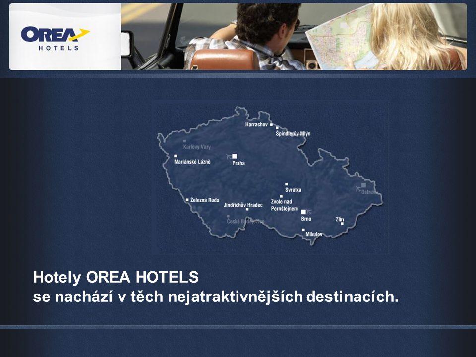 Hotely OREA HOTELS se nachází v těch nejatraktivnějších destinacích.