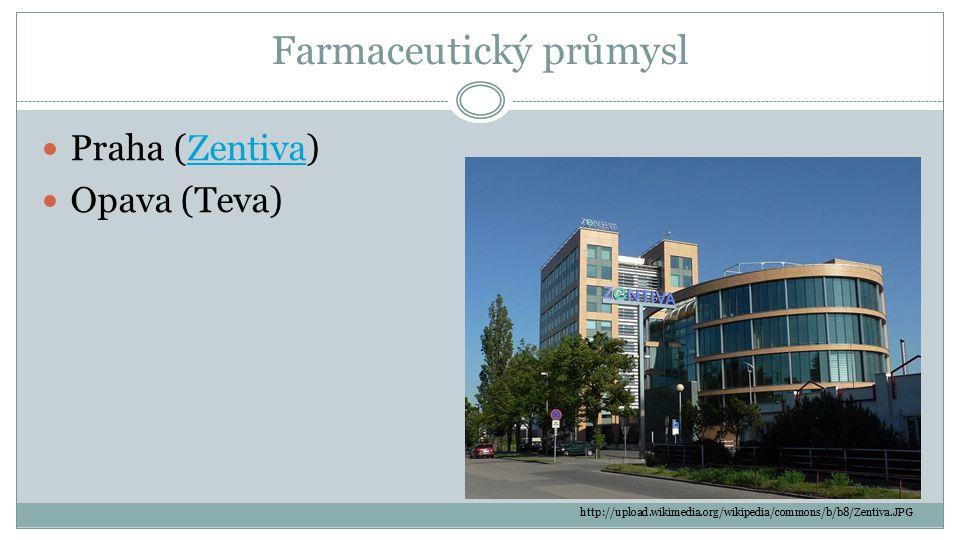 Farmaceutický průmysl Praha (Zentiva)Zentiva Opava (Teva) http://upload.wikimedia.org/wikipedia/commons/b/b8/Zentiva.JPG