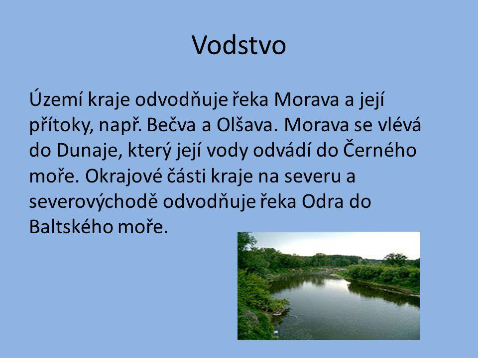 Vodstvo Území kraje odvodňuje řeka Morava a její přítoky, např.