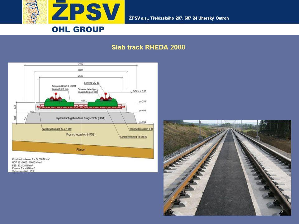 ŽPSV a.s., Třebízského 207, 687 24 Uherský Ostroh Slab track RHEDA 2000