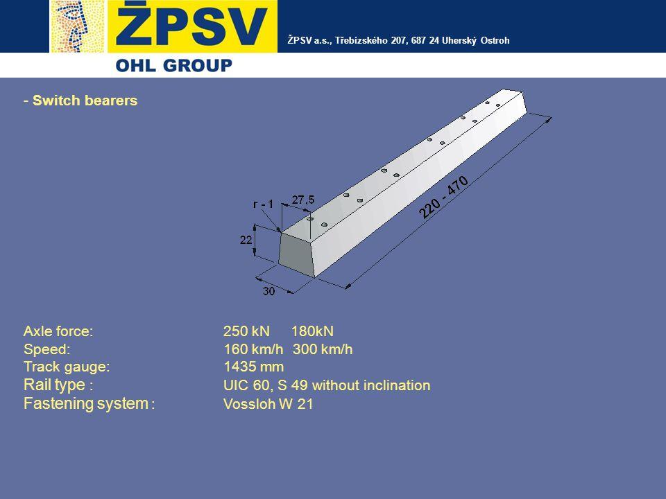 ŽPSV a.s, Třebízského 207, 687 24 Uherský Ostroh Precast elements for building reconstructions DZP tram plates