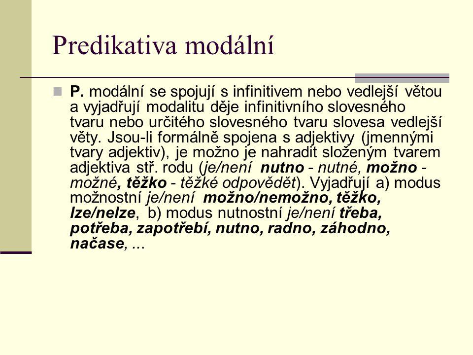 Predikativa modální P.