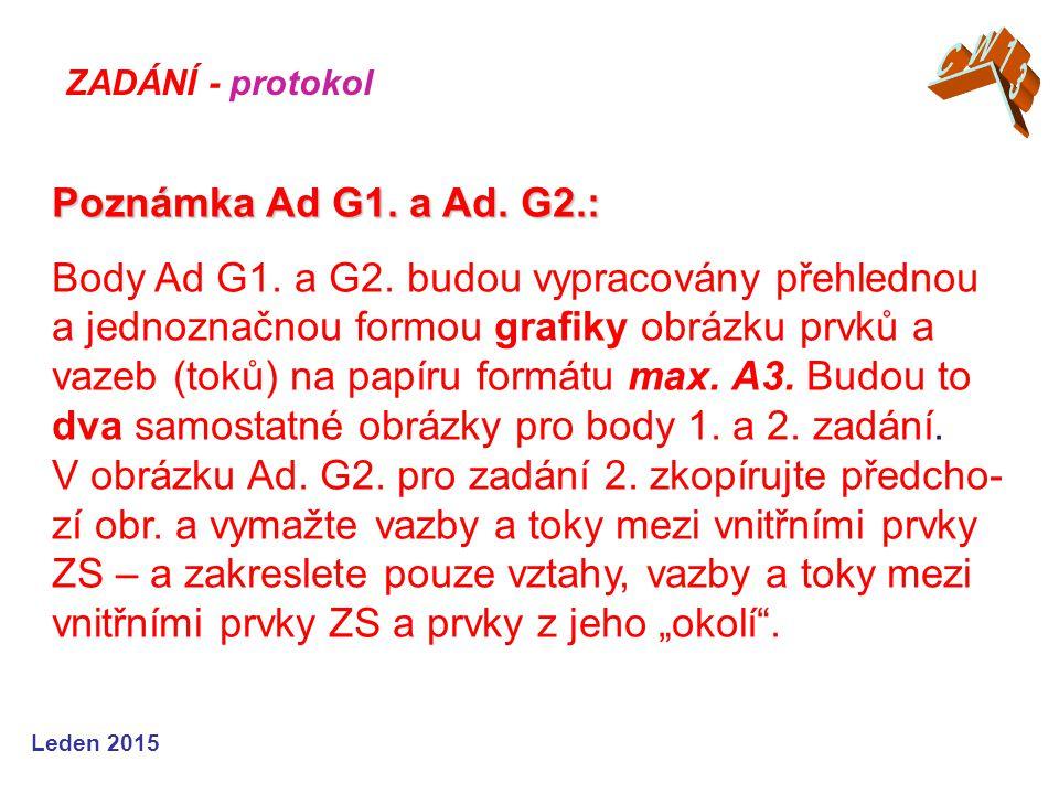 Leden 2015 Poznámka Ad G1. a Ad. G2.: Poznámka Ad G1.