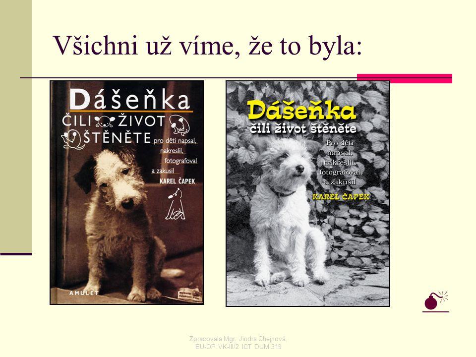 Všichni už víme, že to byla:  Zpracovala Mgr. Jindra Chejnová, EU-OP VK-III/2 ICT DUM 319