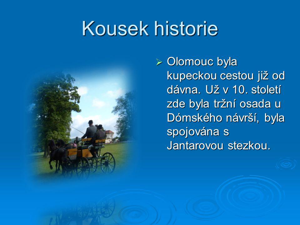 Kousek historie  Olomouc byla kupeckou cestou již od dávna.