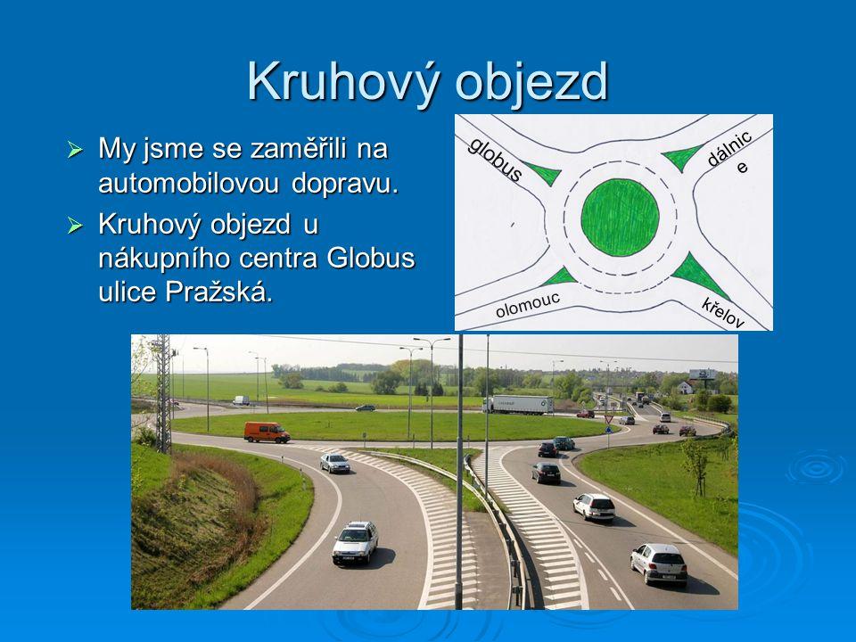 Kruhový objezd  My jsme se zaměřili na automobilovou dopravu.