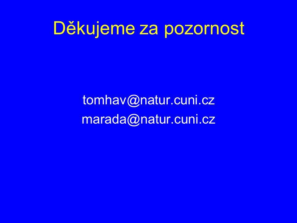 Děkujeme za pozornost tomhav@natur.cuni.cz marada@natur.cuni.cz