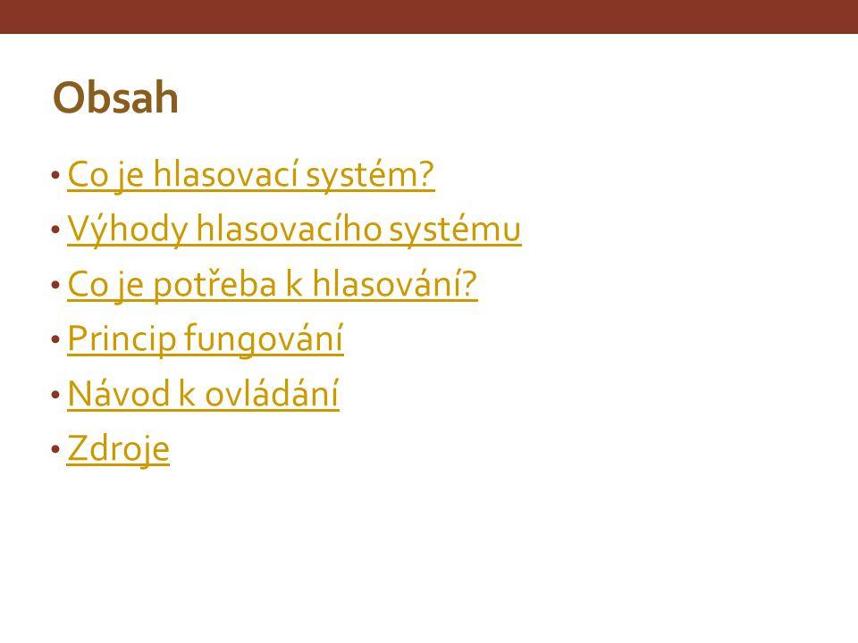 Co je hlasovací systém.