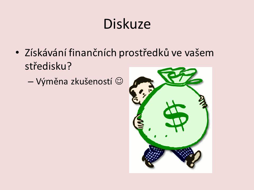 Diskuze Získávání finančních prostředků ve vašem středisku? – Výměna zkušeností