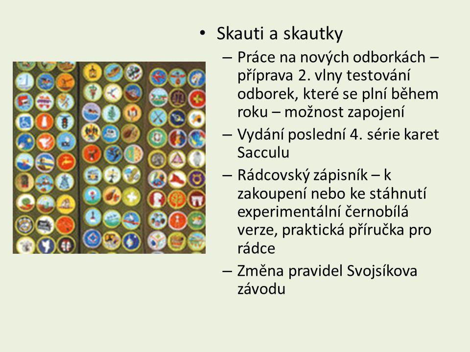 Skauti a skautky – Práce na nových odborkách – příprava 2.