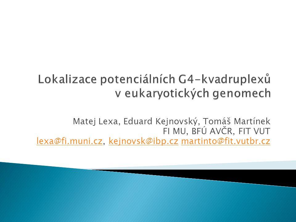Matej Lexa, Eduard Kejnovský, Tomáš Martínek FI MU, BFÚ AVČR, FIT VUT lexa@fi.muni.czlexa@fi.muni.cz, kejnovsk@ibp.cz martinto@fit.vutbr.czkejnovsk@ib