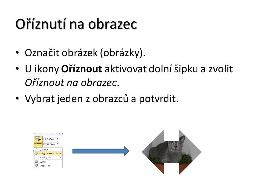 Oříznutí na obrazec Označit obrázek (obrázky).