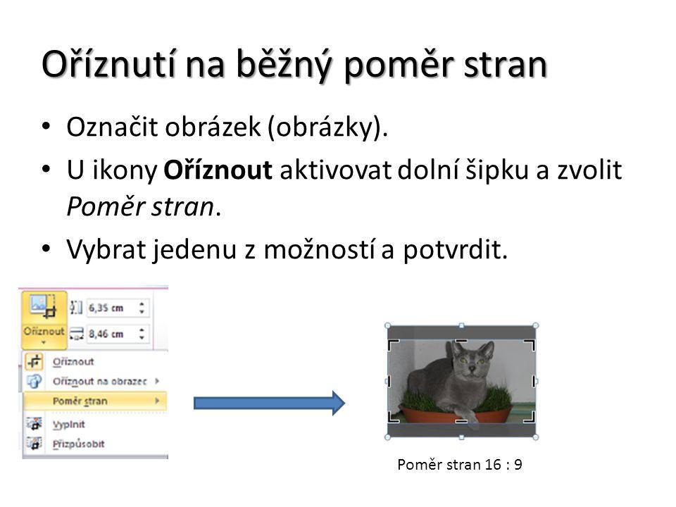 Oříznutí na běžný poměr stran Označit obrázek (obrázky).