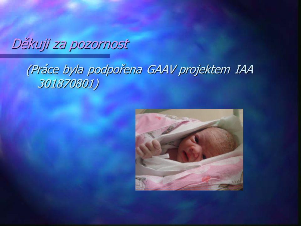 Děkuji za pozornost (Práce byla podpořena GAAV projektem IAA 301870801)