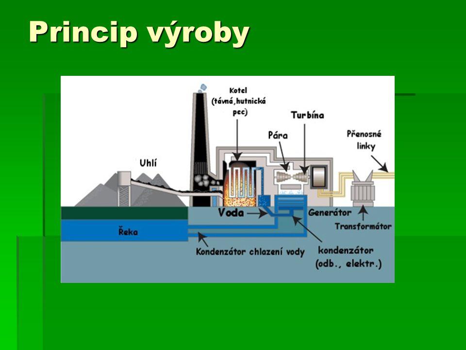 Uhelné elektrárny u nás  Nejstarší u nás je z roku 1977 a je to elektrárna Chvaletice a její výkon je 800MW
