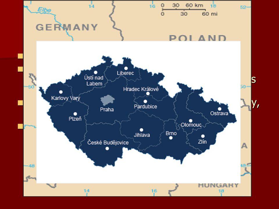 GEOGRAFIE Leží ve vnitrozemí ve střední Evropě Leží ve vnitrozemí ve střední Evropě Sousedí na západě s Německem, na severu s Polskem, na východě se S