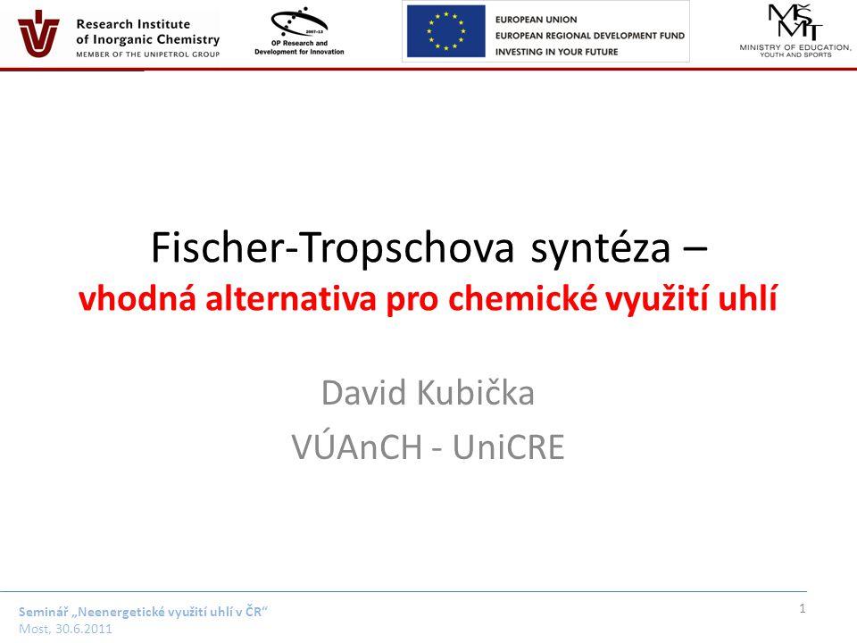 """Seminář """"Neenergetické využití uhlí v ČR Most, 30.6.2011 Surovinové zdroje FTS 2"""