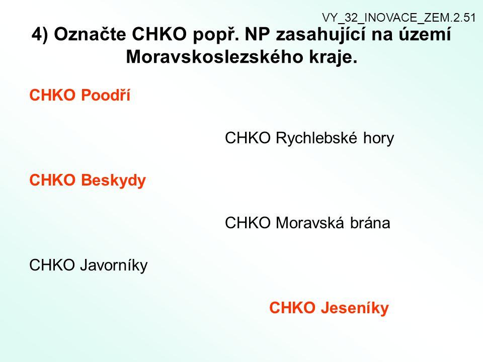 6) Přírodní zajímavosti Moravskoslezského kraje.Spojte,co k sobě patří.
