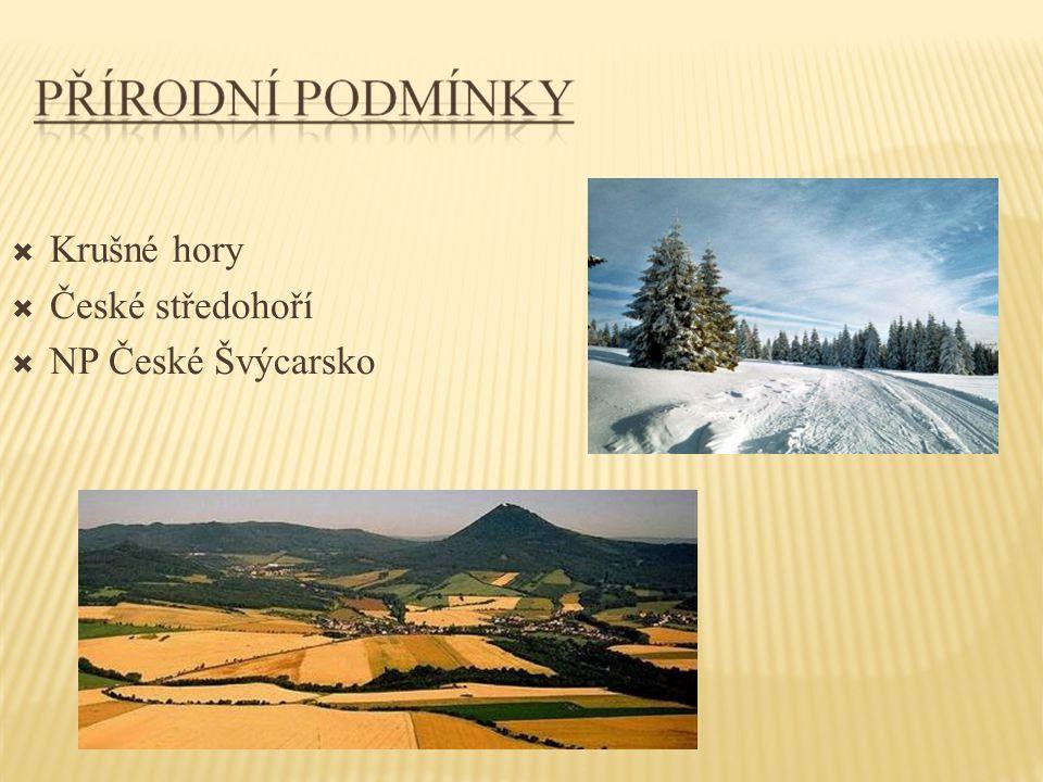 KRUŠNÉ HORY  Krušné hory, dříve též Rudohoří, jsou pohoří podél česko-německé hranice na severozápadě Čech a jihu Saska.