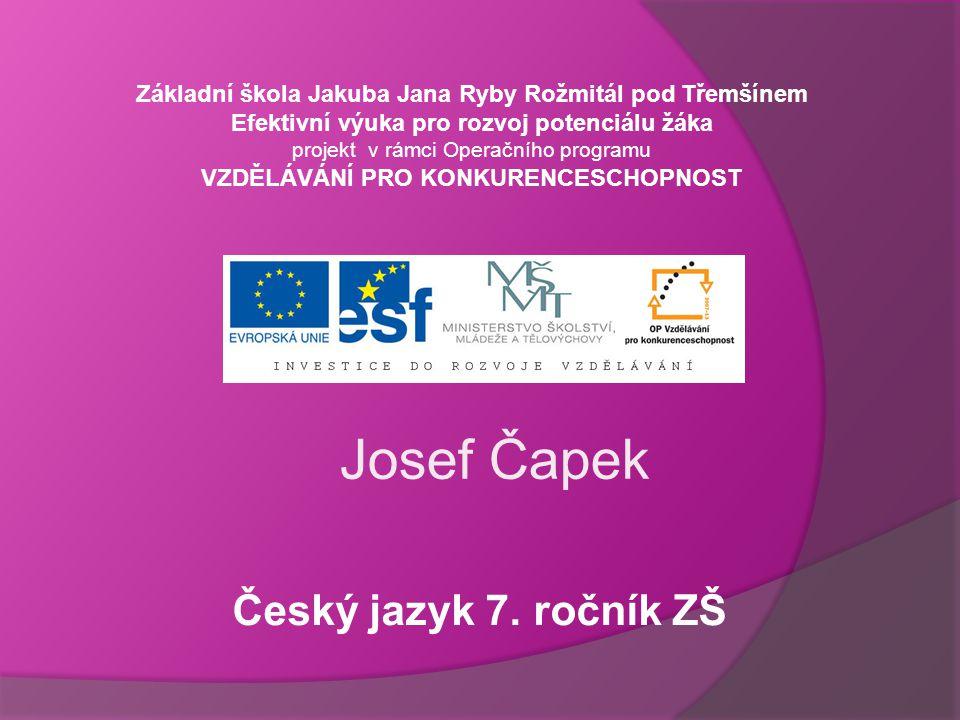 Josef Čapek Český jazyk 7.