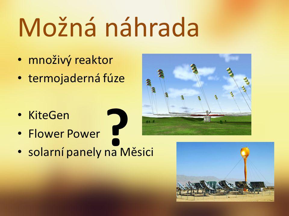 množivý reaktor termojaderná fúze KiteGen Flower Power solarní panely na Měsici Možná náhrada ?