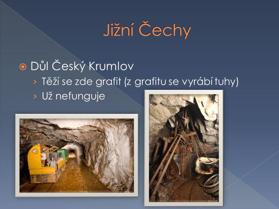  Důl Český Krumlov › Těží se zde grafit (z grafitu se vyrábí tuhy) › Už nefunguje