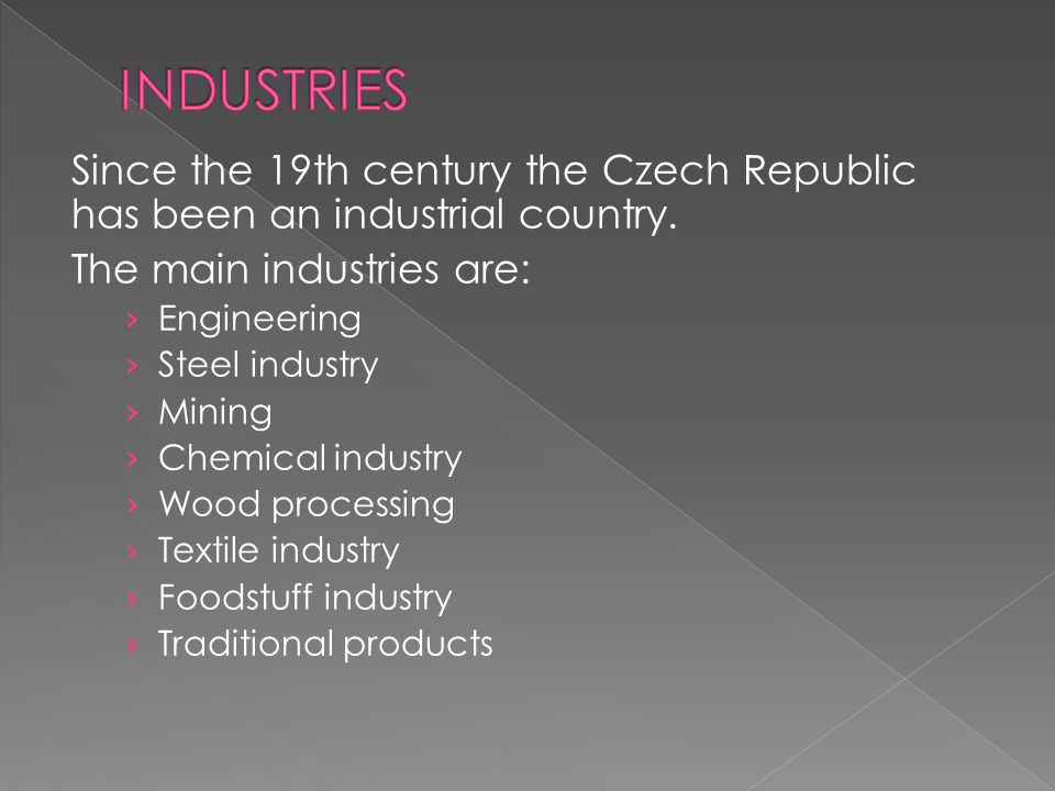  Engineering – belongs to the most traditional industrial branches.