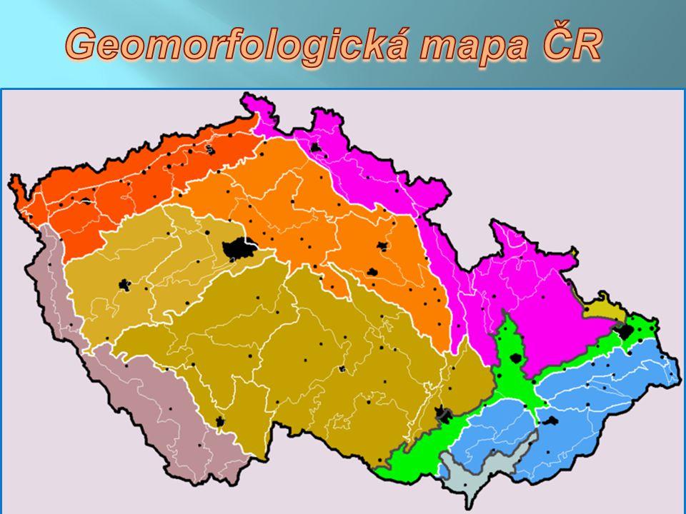 Šumavská oblast Krkonošsko - jesenická oblast Česko - moravská oblast Poberounská oblast Česká tabule Krušnohorská oblast Západní Karpaty