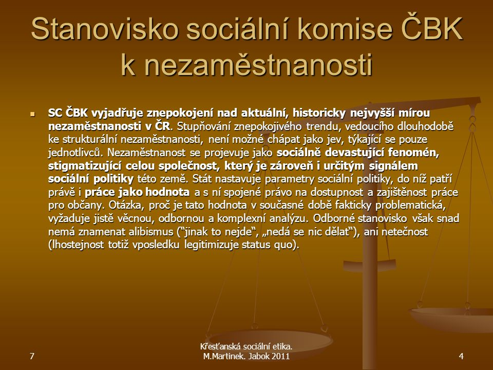 Stanovisko sociální komise ČBK k nezaměstnanosti SC ČBK vyjadřuje znepokojení nad aktuální, historicky nejvyšší mírou nezaměstnanosti v ČR. Stupňování