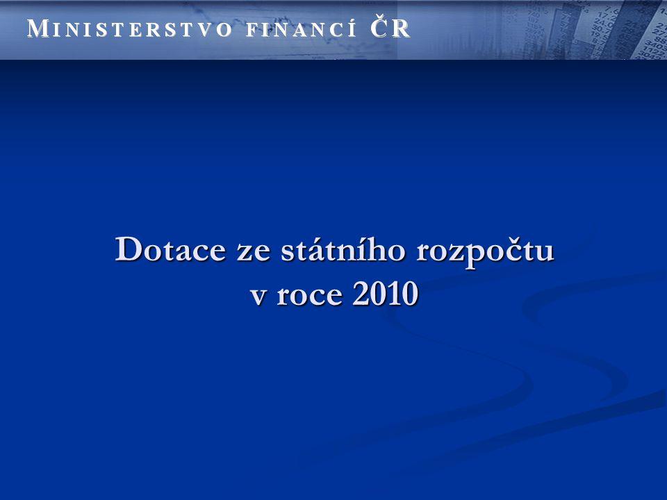 Dotace ze státního rozpočtu v roce 2010