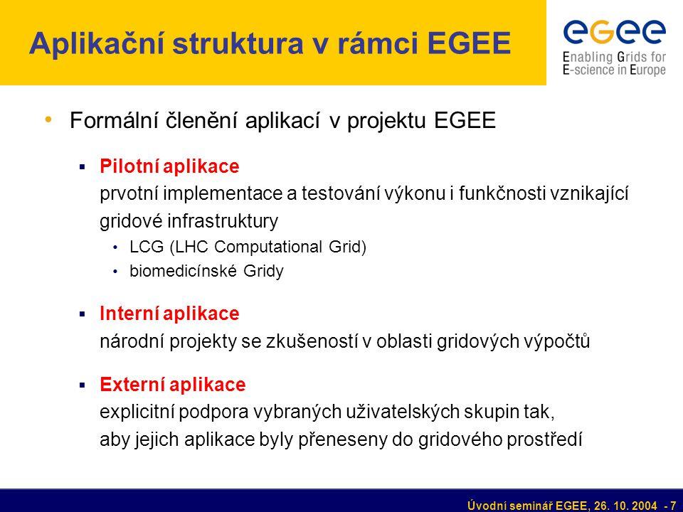 Úvodní seminář EGEE, 26.10.