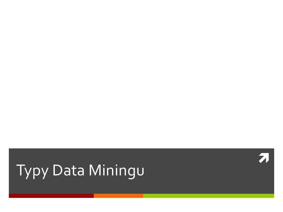  Typy Data Miningu
