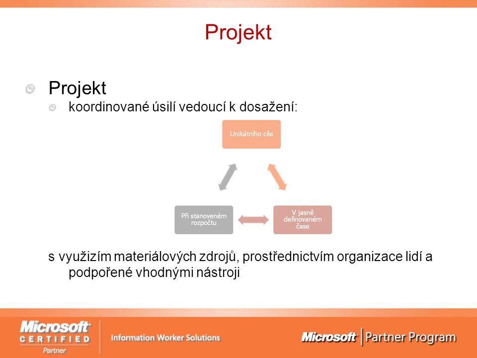 Projekt koordinované úsilí vedoucí k dosažení: s využizím materiálových zdrojů, prostřednictvím organizace lidí a podpořené vhodnými nástroji