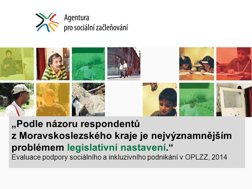 """""""Podle názoru respondentů z Moravskoslezského kraje je nejvýznamnějším problémem legislativní nastavení."""" Evaluace podpory sociálního a inkluzivního p"""