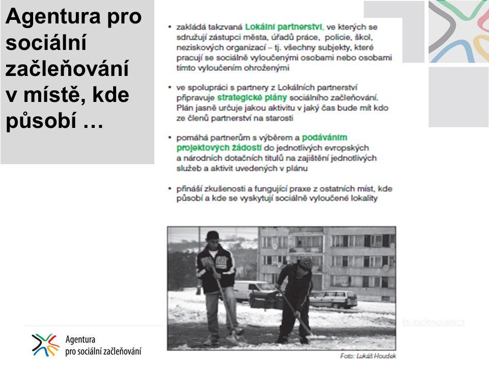 MMR: Strategie regionálního rozvoje na období 2014 - 2020 Priorita 3 Zkvalitnění sociálního prostředí rozvojových území Průřezové opatření: 3.X Podpora integrace sociálně vyloučených a sociálním vyloučením ohrožených skupin obyvatelstva Opatření jde napříč jednotlivými typy území ČR, tj.